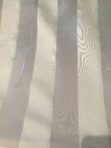 Ivory Striped Sheer Drapery Fabric - Double Width, 9 yards