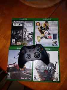 Xbox  one control and games