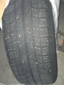 4 Michelin X-Ice winter tires 205/65R15 on steel rims - $250