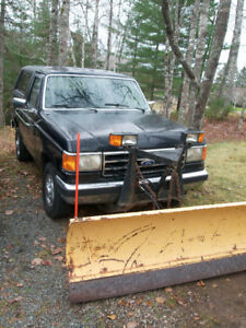Ford Bronco Plow Truck Ready for Winter