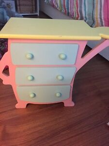 Tollytots dresser for American Girl doll clothes closet