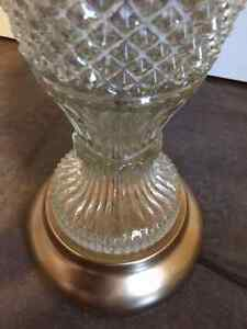 Antique Crystal and Gold Lamp