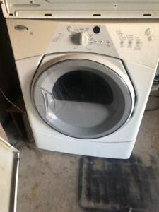 whirlpool duet front load stackable GAZ dryer