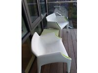 Kartell Magic Hole Armchairs x2.
