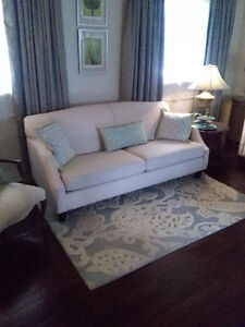 Couch 3 yr old cream / light taupe colour /  totally washable