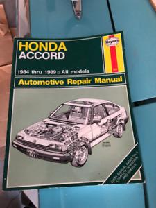 1989 honda accord EXI manual