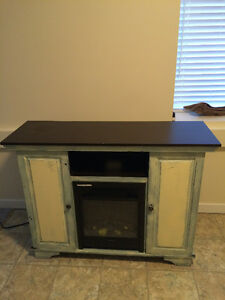 TV stand/Electric fireplace with storage