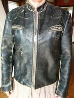 Motorcycle leather jacket, size 42, EXCELLED, made in USA