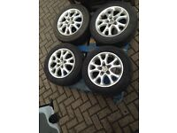 Alfa romeo 147 15inch alloys wheels and good tyres bargain £25