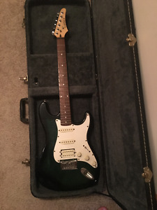 Samick Electric Guitar with Hardshell Case
