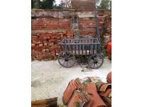 Wooden antique dog cart