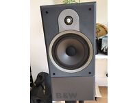 Bowers and Wilkins DM610 speakers and stands