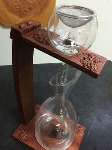 Custom Wine Aerator Stand with Oak Stave Stem Strathcona County Edmonton Area image 3