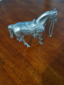 Horse figurines, made of base metal with silver or brass finish Currans Hill Camden Area Preview