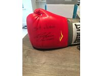 Ricky Burns signed boxing glove and signed guest pass