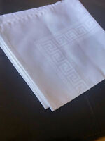 Table Napkins Greek key tile pattern, Elegant & classic