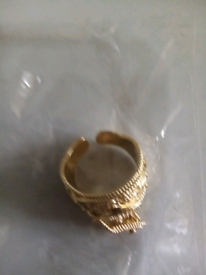 Gold filled luxury ring addustable new