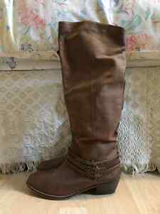 Beautiful Brown Leather Boots