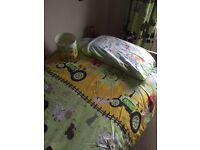 Children /Toddler Bedroom set - Duvet / Curtains & lampshade