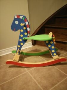 Like NEW ALEX Toys Wooden Rocking Horse
