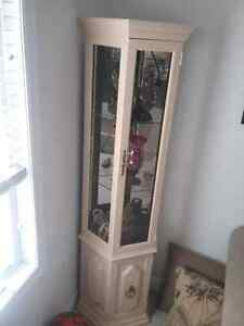 "China cabinet 72 "" tall and 21"" wide"