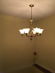 chandeliers and matching ceiling lights