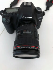 CANON EOS 5D Mark II with EF 24-105 mm Lens.  Excellent Cond.