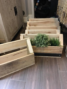 Pallet Planter Boxes For Herbs / Flowers / Tool Storage