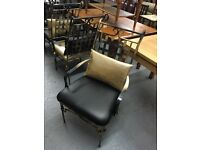 BLACK & GOLD HEAVY METAL CHAIRS WITH CUSHIONS