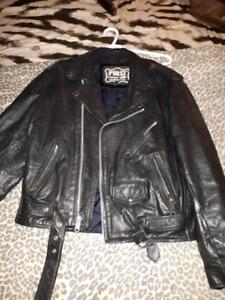 Real leather jacket and chaps