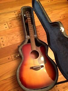 Acoustic/electric Yamaha guitar with case!