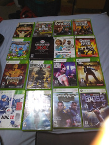 Xbox 360. Guitar hero. Drum set guitar and mic .Dj hero also