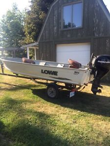 2008 Lowe 1668 with 25HP EFI and Trailer