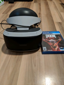 PlayStation VR with accessories and Doom VR