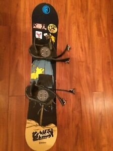 138.5 cm / 54.5 inch Snowboard with LS3 bindings