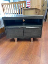 7. Grey solid wood TV unit