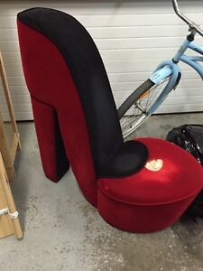 Red shoe couch