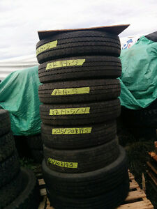 All Season 19.5 inch Steering tires Various kinds 80-90% tread