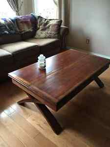 Solid wood coffee table Peterborough Peterborough Area image 1