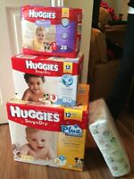 Unopened boxes of Huggies