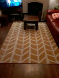 Yellow pattern rug