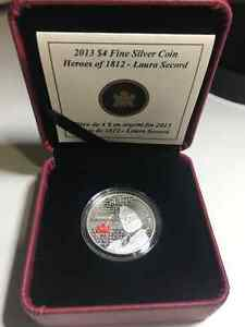 Fine silver RCM coin - Laura Secord - Heroes of 1812