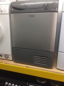 Silver hotpoint 7kg condenser dryers good condition with guarantee bargain