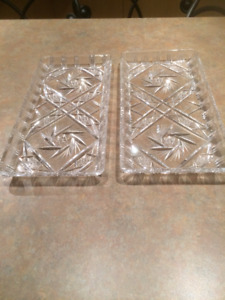 Oblong Crystal Trays $20 and $25