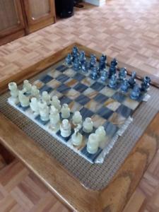 Jeux d'échec en marbre (onyx)