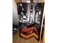 New York canvas room divider and canvas picture