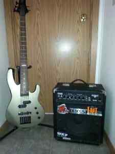 5string bass and amp