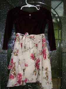Burgundy Velvet Girly Dress Size 2 Cambridge Kitchener Area image 3