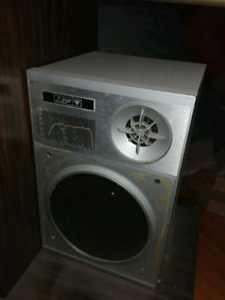 Vintage speakers, stereo, record player