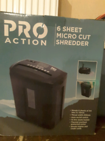 Proaction paper shredder unused in box